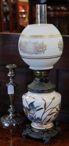 Oil Lamp by Frans Anton Mehlem C1887-1920 LM 15