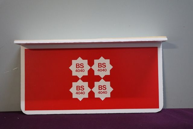 4 Star BS 4040 Leaded Petrol Double Sided Wall mount Sign