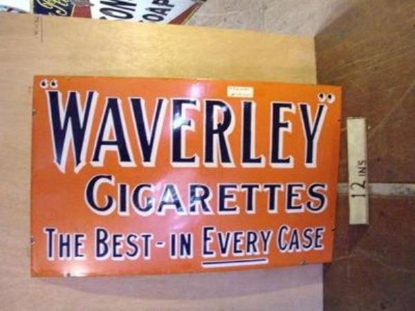 WAVERLEY CIGARETTES ENAMEL SIGN ---ST108