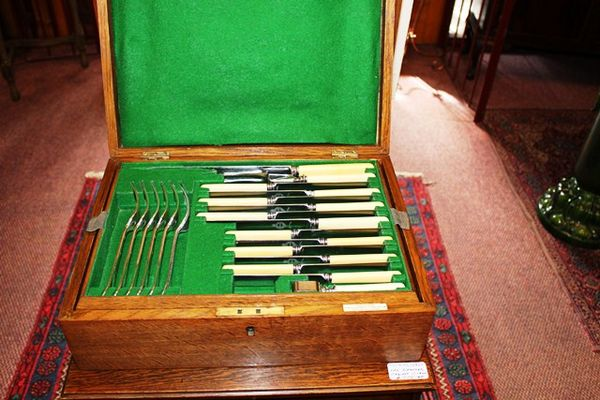 53 Piece Alexander Clark Co Canteen of Cutlery