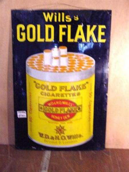 WILLS GOLD FLAKE PICTORIAL SIGN---ST74