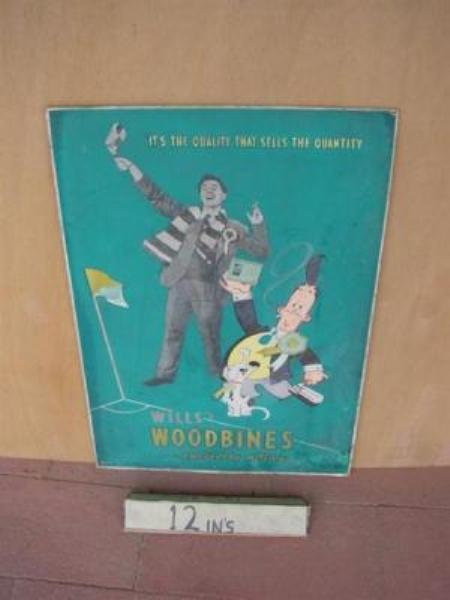 WILLs  WOODBINE DISPLAY CARD---ST50