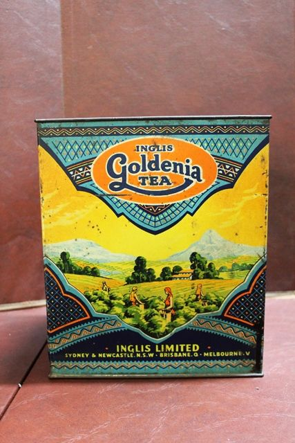 6 lbs Inglis Goldenia Pictorial Tea Tin