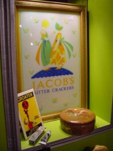JACOBS CRACKERS FRAMED GLASS SHOP ADV ---ADV 31