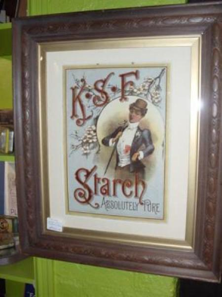 STUNNING K S F STARCH SHOWCARD--- ADV 23