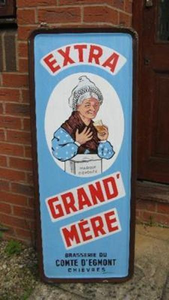Grand Mere French enamel sign---SG58