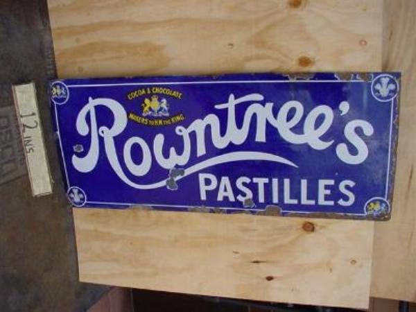 ROWNTREES PASTILLES ENAMEL SIGN  SG29