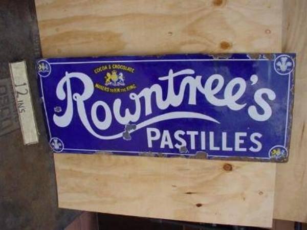 ROWNTREES PASTILLES ENAMEL SIGN  SG29