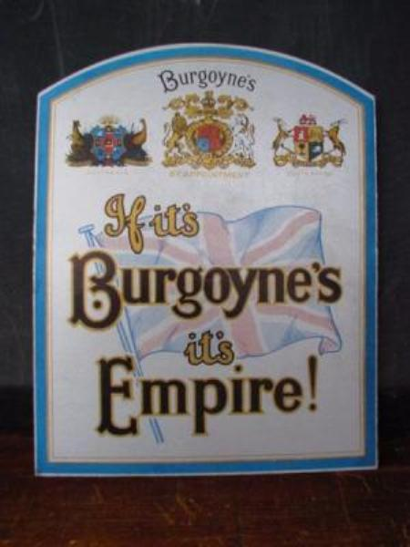 Burgoyne s Wines card showcard sign---SP7
