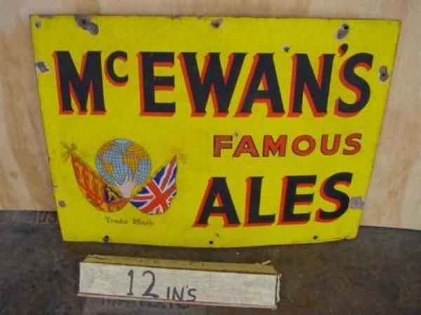 Mc EWANS ALES ENAMEL SIGN  --SP1