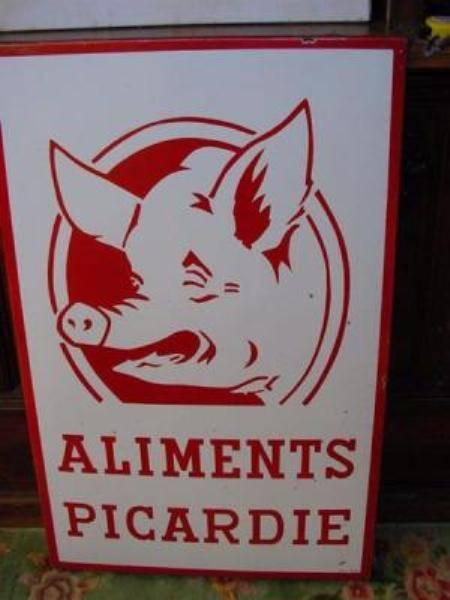 French pig farm enamel sign---SM33