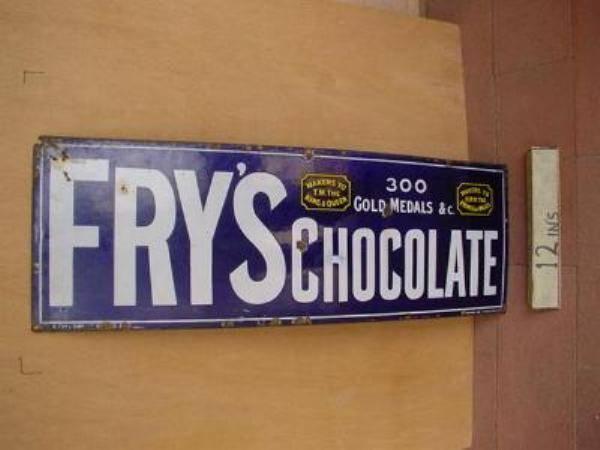 Fry s Chocolate STRIP ENAMEL SIGN-----SG2