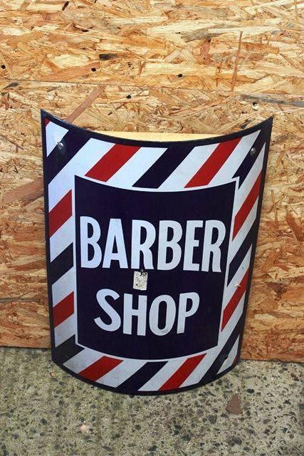 ARRIVING NOV A Genuine Barbers Enamel Sign