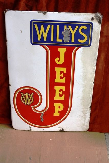 ARRIVING SOONWILLY+96S JEEP Enamel Sign