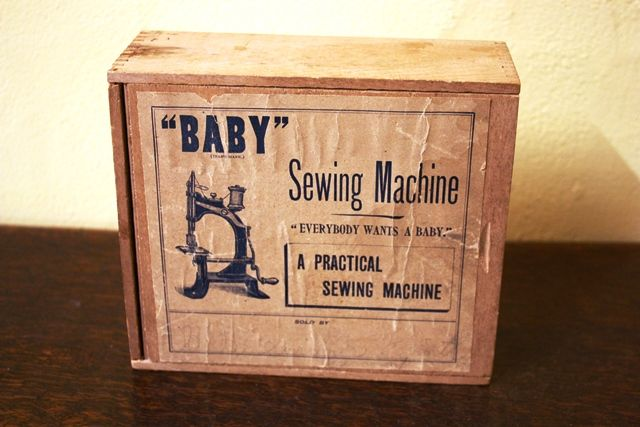 ARRIVING SOON Antique Baby Sewing Machine