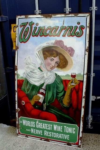 ARRIVING SOON Antique Wincarnis Enamel Sign