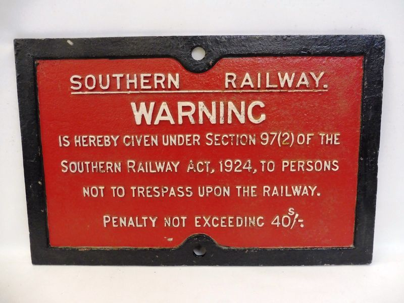 A Cast Great Western Railway Notice Sign