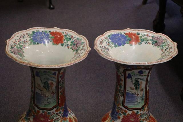 A Fine Pair of Large Antique Imari Vases