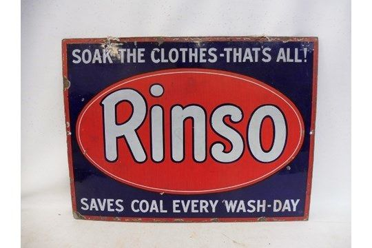 A Genuine Rinso Enamel Advertising Sign