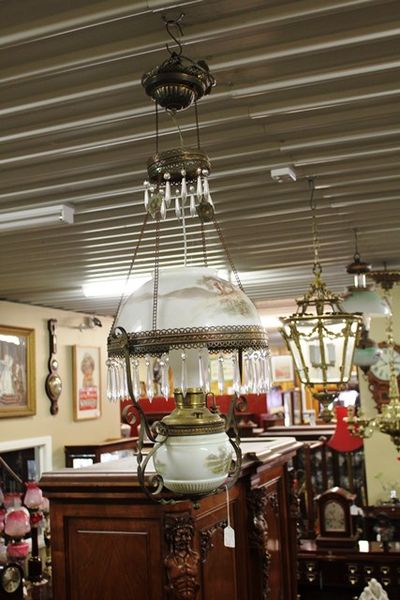 A Late 19th Century Millers Hanging Lamp C1895