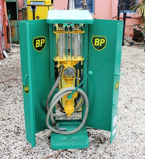 A Rare Satam Cabinet Wall Mount Petrol Pump In BP Livery