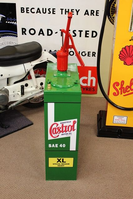 A Restored Hi Boy Oil Dispenser In Castrol Wakefield Livery