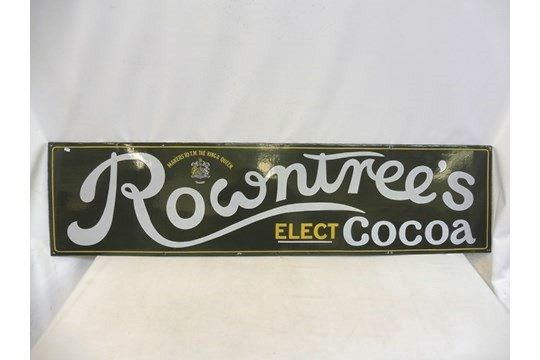A Rowntrees Elect Cocoa rectangular enamel sign