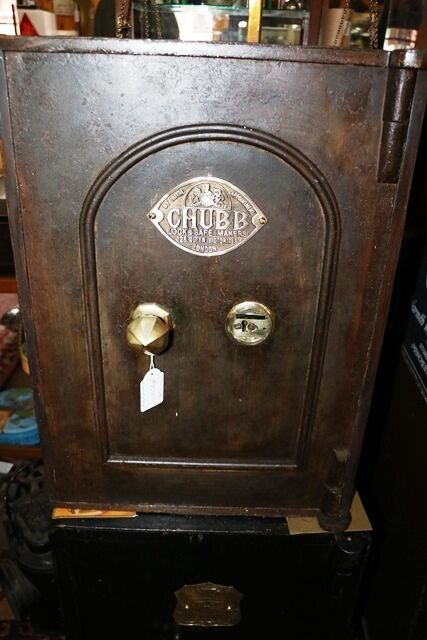 A Small Antique Metal Safe