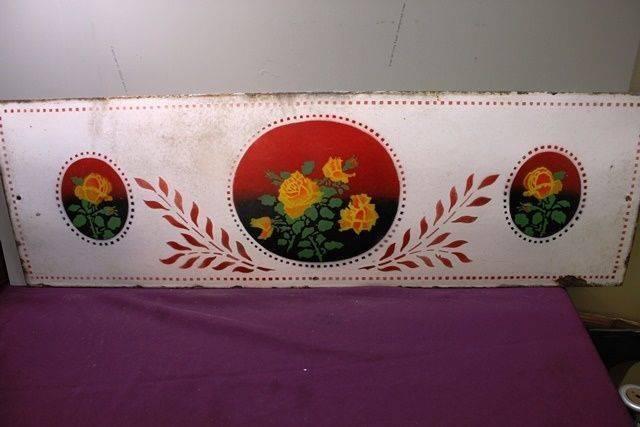 A Vintage Kitchen Splashback Pictorial Enamel Sign