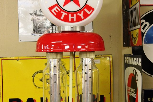 A Well Restored Rare Satam Conical Petrol Pump