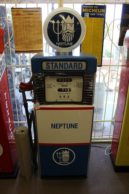 A Well Restored Wayne 605 Petrol Pump In Neptune Livery