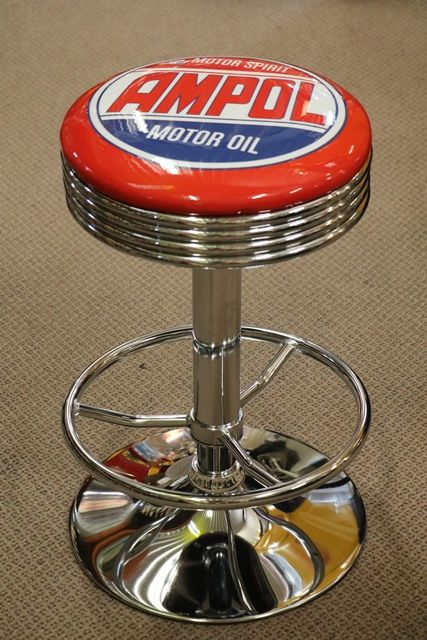 Adjustable GarageBar Stool Ampol Motor Oil