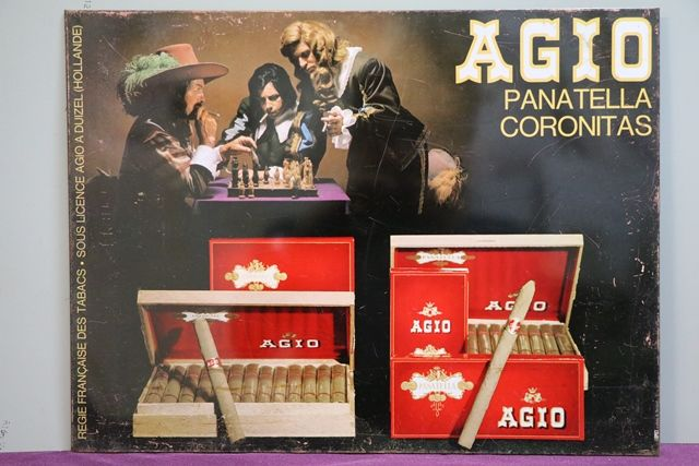 Agio Panatella Coronitas Tin Advertising Sign
