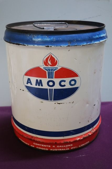 Amoco 4 Gallons Tin
