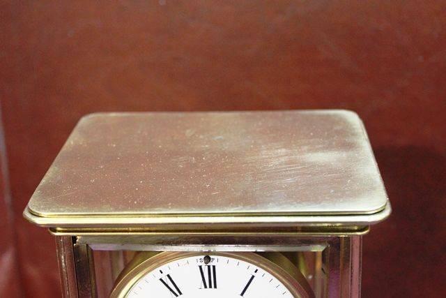 Antique Brass Crystal Regulator With Mercury Pendulum Carraige Clock