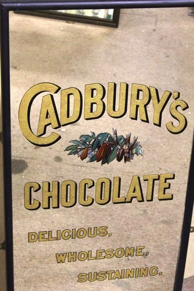 Antique Cadburys Chocolate Advertising Mirror