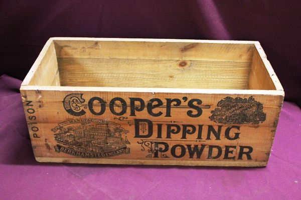 Antique Coopers Dipping Power Packing Box
