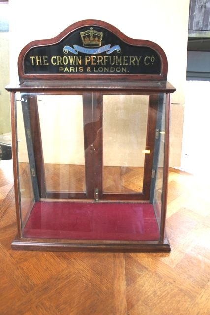 Antique Crown Perfumery Shop Cabinet