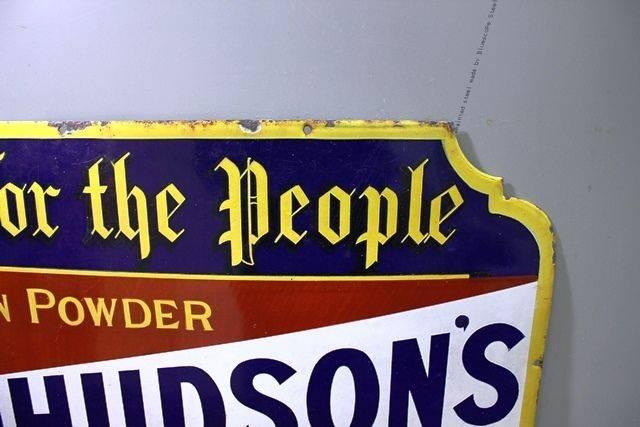 Antique Hudsonand96s Soap Enamel Sign