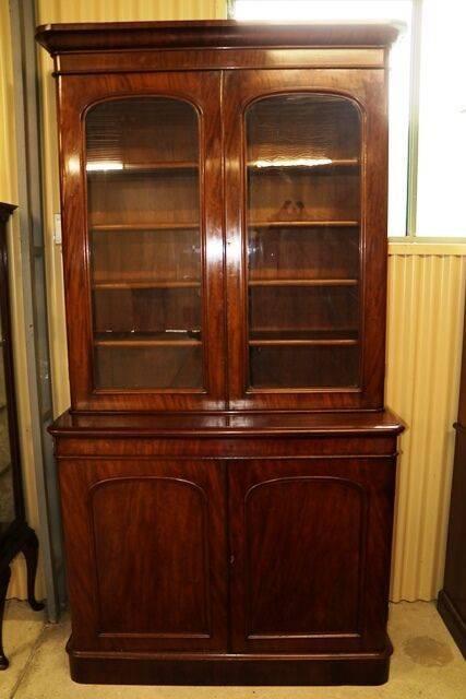 Antique Mahogany Library Bookcase