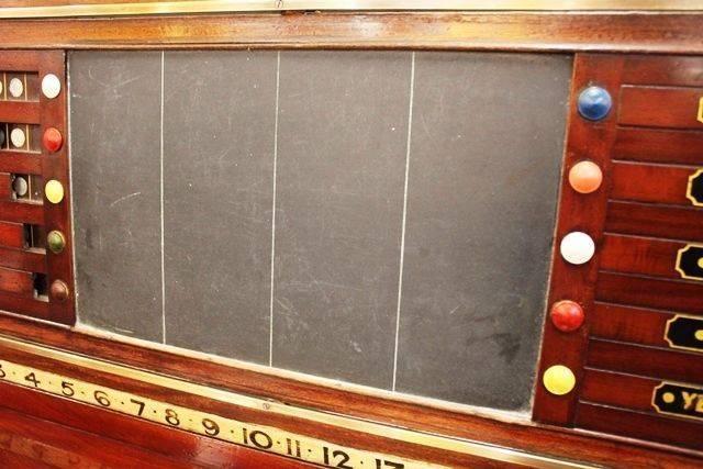 Antique Mahogany Snooker Score Board