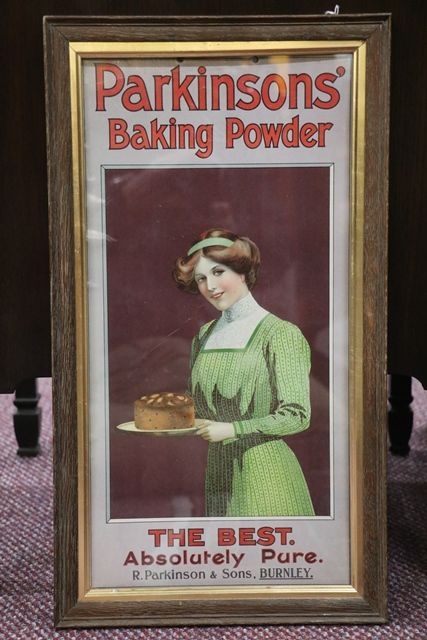 Antique ParkinSonand39s Baking Powder Framed Adv Card