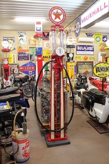 Antique Satam Eiffel Tower Manual Petrol Pump