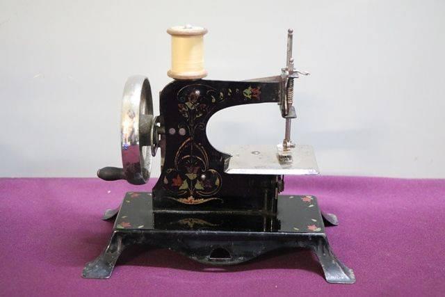Antique Tin Plate Sewing Machine C1900
