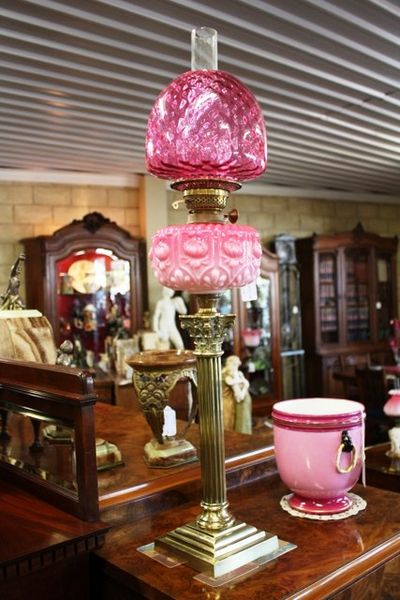 Antique Victorian Banquet Lamp