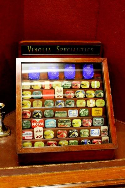 Antique Vinolia Soap Shop Counter Display Cabinet