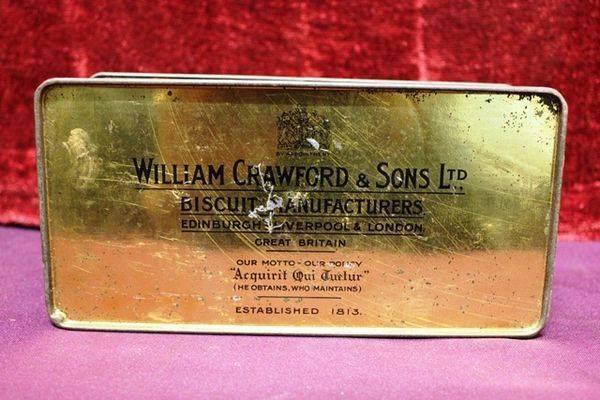 Antique William Crawford Scales Biscuit Tin