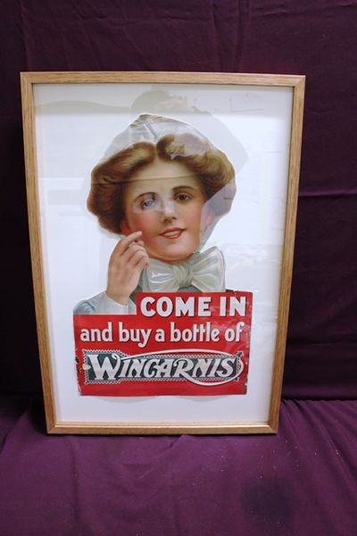 Antique Wincarnis Pictorial Advertising Poster In Boxed Frame