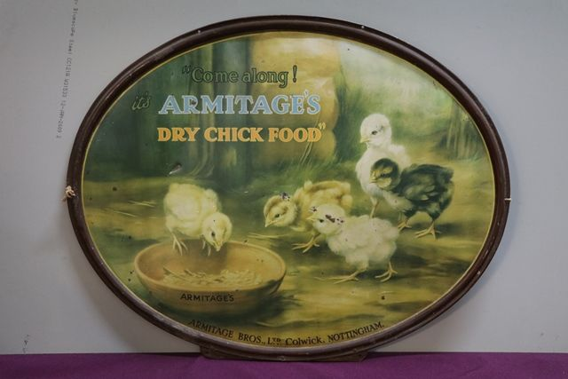 Armitage Dry Chick Food Tin Advertising Sign
