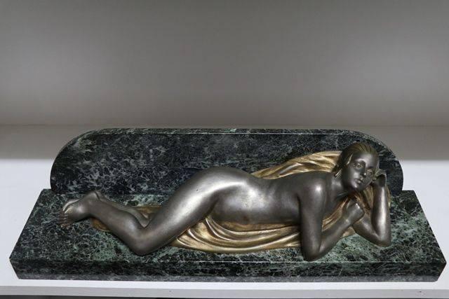 Art Deco Bronze Reclining Figure